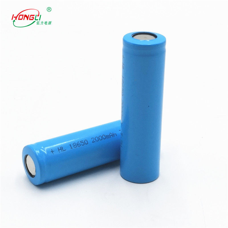 Grade A Power Bank Battery / 18650 2000mAh Rechargeable Li - Ion Cell 3.7V