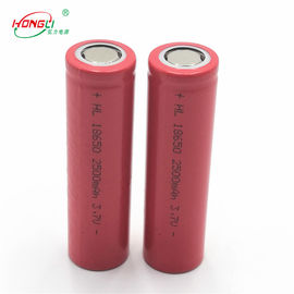 China Rode 2500mAh 18650 3,7 V-Lithium Ionencel 500 Cycli/de Batterijcel van de Machtsbank fabriek